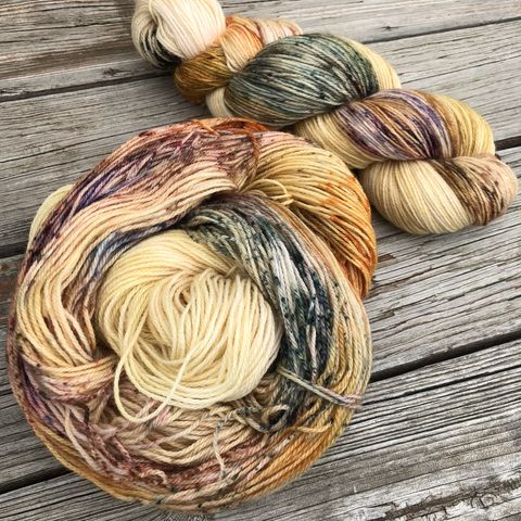 Indian,Corn,2.0,yarn, hand dyed, wool, autumn yarn, fall yarn