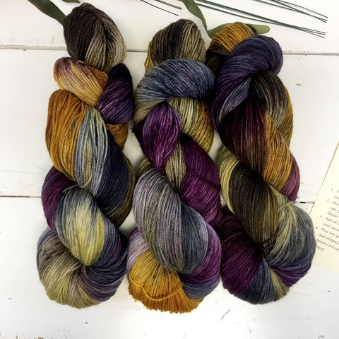 The,Three,Broomsticks~,Harry,Potter,Inspired,Yarn,yarn, Hand dyed, kettle dyed, Harry Potter, Prisoner of Azkaban, Butter Beer, Three Broomsticks