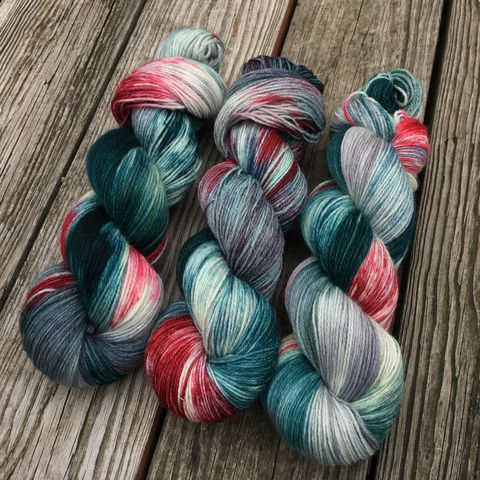 Winter,Berries,yarn, hand dyed, wool, christmas yarn