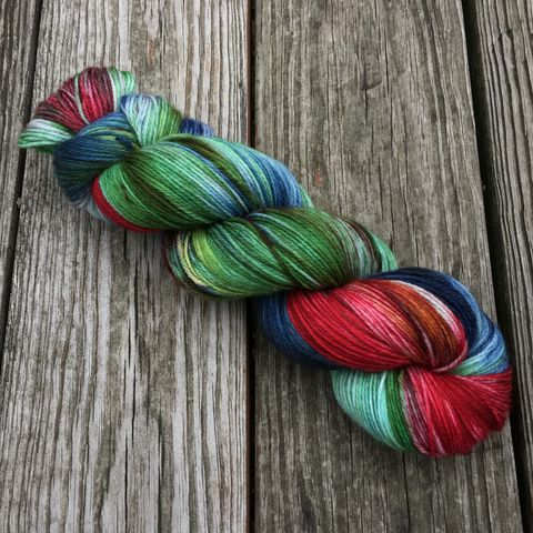 A,Norman,Rockwell,Christmas,yarn, hand dyed, wool, christmas yarn