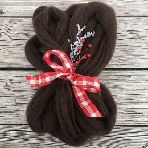 Colored,Cormo,Top,~,Natural,Color,Dark,Chocolate,top, cormo, colored cormo, wool, spin, spinning fiber, cormo wool, cormo top