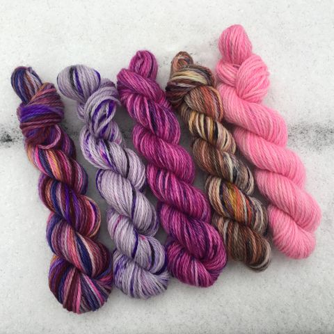 Hogwarts,Spellbound,Mini,Coquette,Skein,Pack,mini skeins, minis, yarn minis, sample yarns , sample pack , sample skeins, Hogwarts, Luna Lovegood, Harry Potter