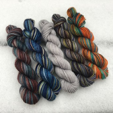 Winterfell,Mini,Coquette,Skein,Pack,mini skeins, minis, yarn minis, sample yarns , sample pack , sample skeins, Game of Thrones
