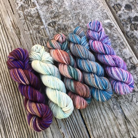 Edinburgh,Squishy,DK,Mini,Skein,Pack,mini skeins, minis, yarn minis, sample yarns , sample pack , sample skeins, dk minis, dk mini skein, dk yarn, dk sample skeins