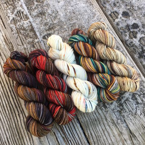 Great,Scot!,Squishy,DK,Mini,Skein,Pack,mini skeins, minis, yarn minis, sample yarns , sample pack , sample skeins, dk minis, dk mini skein, dk yarn, dk sample skeins