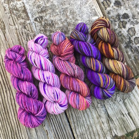 Witch's,Brew,Squishy,DK,Mini,Skein,Pack,mini skeins, minis, yarn minis, sample yarns , sample pack , sample skeins, dk minis, dk mini skein, dk yarn, dk sample skeins