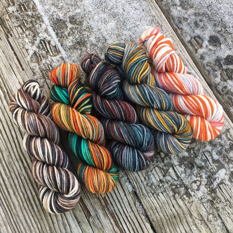 The,North,Squishy,DK,Mini,Skein,Pack,mini skeins, minis, yarn minis, sample yarns , sample pack , sample skeins, dk minis, dk mini skein, dk yarn, dk sample skeins