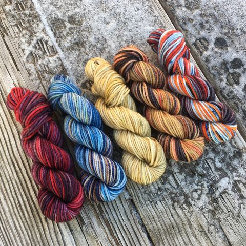 Play,to,Win,Squishy,DK,Mini,Skein,Pack,mini skeins, minis, yarn minis, sample yarns , sample pack , sample skeins, dk minis, dk mini skein, dk yarn, dk sample skeins