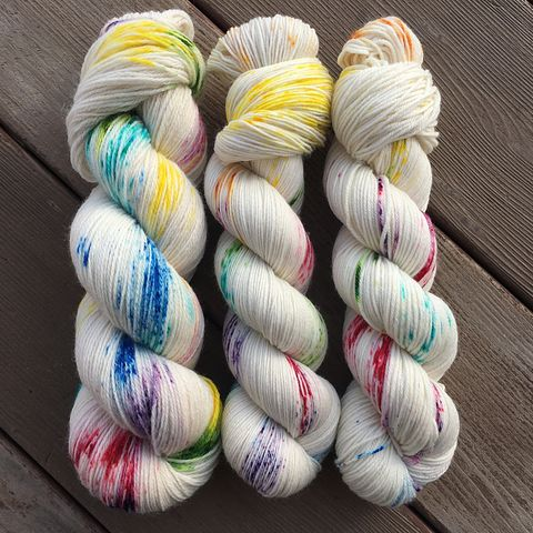 Rainbow,Drops,yarn, Hand dyed, kettle dyed, handdyed, indie yarn, rainbow yarn, sweet yarn, candy yarn