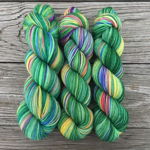 *ONLINE,ONLY*,Lucky,Rainbow,yarn, hand dyed, wool, rainbow yarn, Lucky rainbow