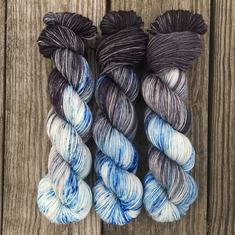 *ONLINE,ONLY*,Night,King,~,Game,of,Thrones,Inspired,Yarn,yarn , hand dyed, Game of Thrones, dracarys, sock yarn, dk, fingering, sock, variegated, bumblebee acres
