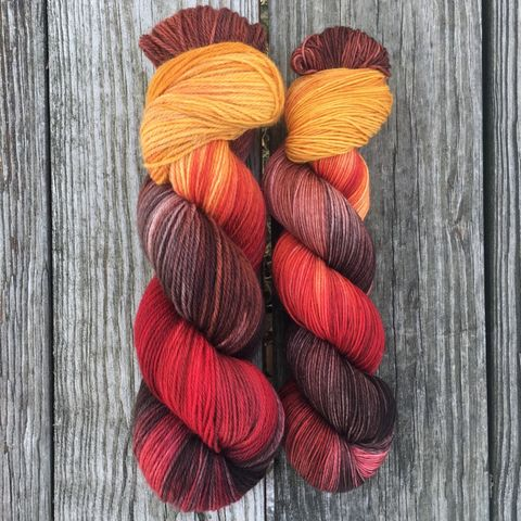 *ONLINE,ONLY*,Kingslayer,~,Game,of,Thrones,Inspired,Yarn,yarn, Hand dyed, kettle dyed, Game of Thrones, game of thrones yarn, wool, handdyed, wild fire, wildfire, wild fire yarn
