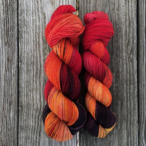 *ONLINE,ONLY*,The,Red,Woman,~,Game,of,Thrones,Inspired,Yarn,yarn, Hand dyed, kettle dyed, Game of Thrones, game of thrones yarn, wool, handdyed, wild fire, wildfire, wild fire yarn