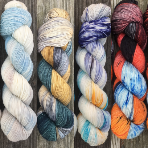 Fire,and,Ice,FADE,KIT,~,Game,of,Thrones,Inspired,Yarn,yarn, Hand dyed, kettle dyed, Game of Thrones, game of thrones yarn, wool, handdyed, fade kit, find your fade, so faded, comfort fade