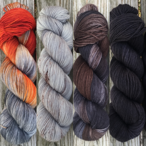 I'm,Good,At,Killing,People,FADE,KIT,~,Game,of,Thrones,Inspired,Yarn,yarn, Hand dyed, kettle dyed, Game of Thrones, game of thrones yarn, wool, handdyed, fade kit, find your fade, so faded, comfort fade