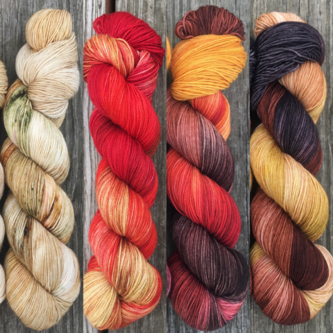 House,Lannister,FADE,KIT,~,Game,of,Thrones,Inspired,Yarn,yarn, Hand dyed, kettle dyed, Game of Thrones, game of thrones yarn, wool, handdyed, fade kit, find your fade, so faded, comfort fade