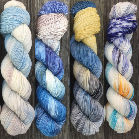 My,Sun,and,Stars,FADE,KIT,~,Game,of,Thrones,Inspired,Yarn,yarn, Hand dyed, kettle dyed, Game of Thrones, game of thrones yarn, wool, handdyed, fade kit, find your fade, so faded, comfort fade