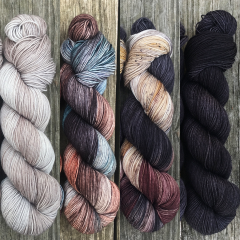 Maesters,and,Three,Eyed,Ravens,FADE,KIT,~,Game,of,Thrones,Inspired,Yarn,yarn, Hand dyed, kettle dyed, Game of Thrones, game of thrones yarn, wool, handdyed, fade kit, find your fade, so faded, comfort fade