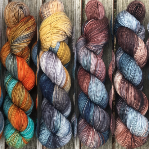House,Stark,FADE,KIT,~,Game,of,Thrones,Inspired,Yarn,yarn, Hand dyed, kettle dyed, Game of Thrones, game of thrones yarn, wool, handdyed, fade kit, find your fade, so faded, comfort fade