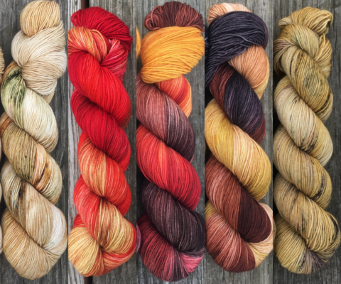 Hear,Me,Roar,FADE,KIT,~,Game,of,Thrones,Inspired,Yarn,yarn, Hand dyed, kettle dyed, Game of Thrones, game of thrones yarn, wool, handdyed, fade kit, find your fade, so faded, comfort fade