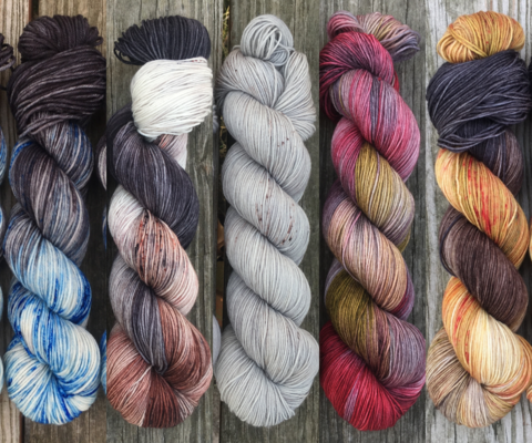 Monsters,Are,Real,FADE,KIT,~,Game,of,Thrones,Inspired,Yarn,yarn, Hand dyed, kettle dyed, Game of Thrones, game of thrones yarn, wool, handdyed, fade kit, find your fade, so faded, comfort fade