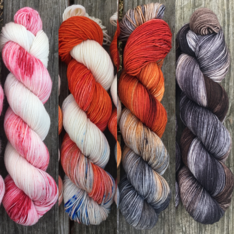 Wildlings,FADE,KIT,~,Game,of,Thrones,Inspired,Yarn,yarn, Hand dyed, kettle dyed, Game of Thrones, game of thrones yarn, wool, handdyed, fade kit, find your fade, so faded, comfort fade