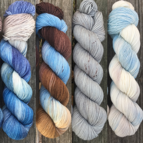 Across,the,Narrow,Sea,FADE,KIT,~,Game,of,Thrones,Inspired,Yarn,yarn, Hand dyed, kettle dyed, Game of Thrones, game of thrones yarn, wool, handdyed, fade kit, find your fade, so faded, comfort fade