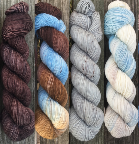 Stormborn,FADE,KIT,~,Game,of,Thrones,Inspired,Yarn,yarn, Hand dyed, kettle dyed, Game of Thrones, game of thrones yarn, wool, handdyed, fade kit, find your fade, so faded, comfort fade
