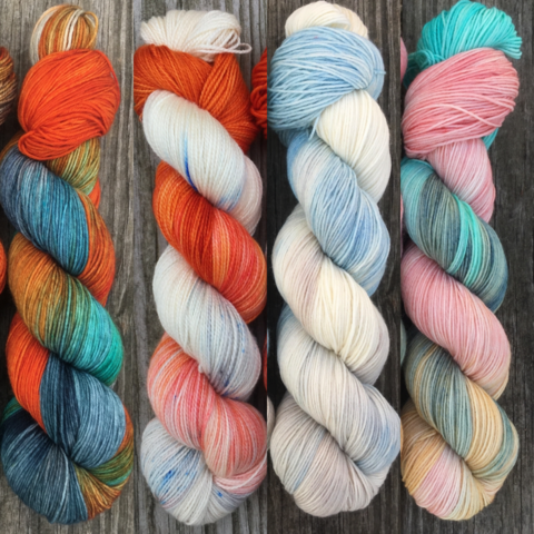 A,Wolf,,Wildling,,Dragon,,and,Rose,FADE,KIT,~,Game,of,Thrones,Inspired,Yarn,yarn, Hand dyed, kettle dyed, Game of Thrones, game of thrones yarn, wool, handdyed, fade kit, find your fade, so faded, comfort fade