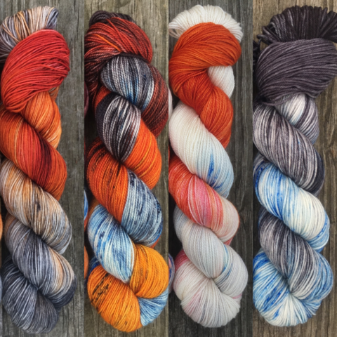 North,of,The,Wall,FADE,KIT,~,Game,Thrones,Inspired,Yarn,yarn, Hand dyed, kettle dyed, Game of Thrones, game of thrones yarn, wool, handdyed, fade kit, find your fade, so faded, comfort fade