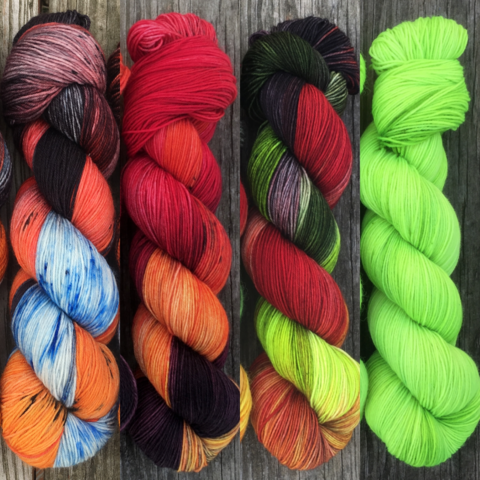 Look,Into,The,Flames,FADE,KIT,~,Game,of,Thrones,Inspired,Yarn,yarn, Hand dyed, kettle dyed, Game of Thrones, game of thrones yarn, wool, handdyed, fade kit, find your fade, so faded, comfort fade