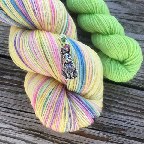 *ONLINE,ONLY*,Yellow,Rainbow,Peeps,Sock,Set,sock set, sock knitting, knit, knitting, heel and toe, mini skein, handmade sock, shawl yarn, shawl set, easter yarn, easter sock set, peep yarn, candy yarn
