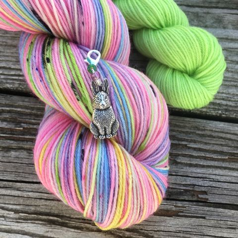 *ONLINE,ONLY*,Pink,Rainbow,Peeps,Sock,Set,sock set, sock knitting, knit, knitting, heel and toe, mini skein, handmade sock, shawl yarn, shawl set, easter yarn, easter sock set, peep yarn, candy yarn