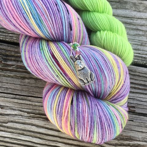 *ONLINE,ONLY*,Purple,Rainbow,Peeps,Sock,Set,sock set, sock knitting, knit, knitting, heel and toe, mini skein, handmade sock, shawl yarn, shawl set, easter yarn, easter sock set, peep yarn, candy yarn