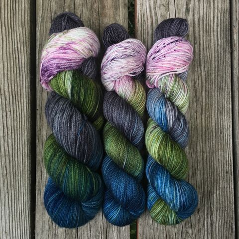 The,Forbidden,Forest,~,Harry,Potter,Inspired,Yarn,yarn, Hand dyed, kettle dyed, Harry Potter, potion yarn, harry potter yarn, hogwarts yarn, magic yarn, forbidden forest