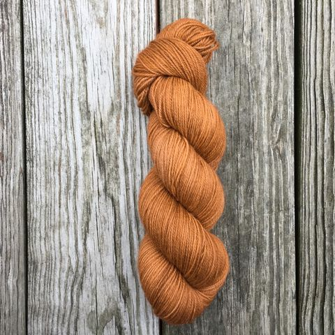 Copper,yarn, kettle dyed, indiedyed yarn, solid yarn, tonal yarn