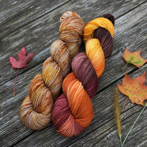 Harvest,at,Hagrid's,Hut,Kit,yarn, Hand dyed, kettle dyed, wool, handdyed, fade kit, find your fade, so faded, comfort fade