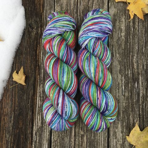 Dobby's,Christmas,Stocking,2019,~,Harry,Potter,Inspired,yarn, hand dyed, wool, christmas yarn, harry potter yarn, holiday yarn, sock yarn, dobby yarn, dobby's socks,