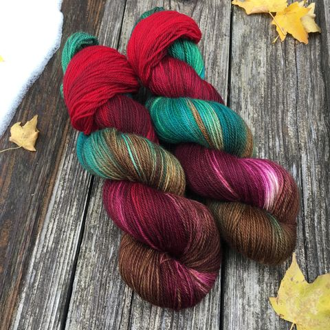Christmas,at,Downton,~,Abbey,Inspired,yarn, hand dyed, wool, christmas yarn, holiday yarn, sock yarn, downton abbey, downton