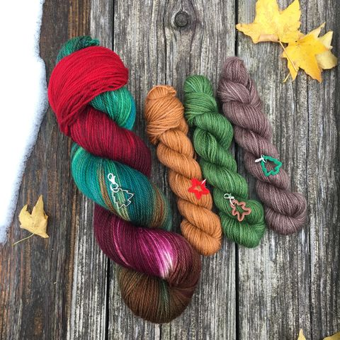 Christmas,at,Downton,Sock,Set,~,Abbey,Inspired,sock set, sock knitting, knit, knitting, heel and toe, mini skein, handmade sock, yarn, hand dyed, wool, christmas yarn, harry potter yarn,  christmas yarn, holiday yarn, sock yarn, downton abbey, downton
