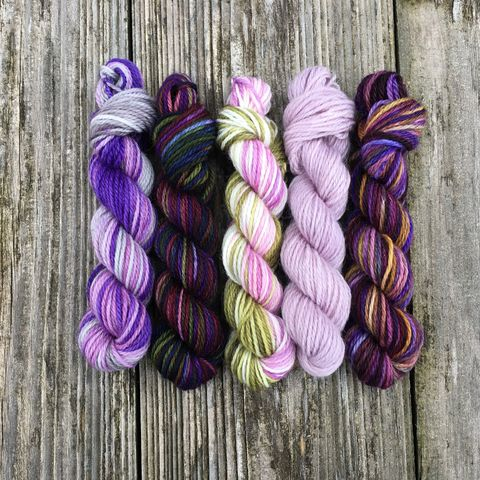 Royalty,Mini,Coquette,Skein,Pack,mini skeins, minis, yarn minis, sample yarns , sample pack , sample skeins, Hogwarts, Hogwarts Christmas, Harry Potter