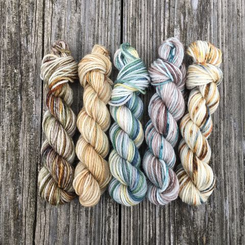 Rivendell,Mini,Coquette,Skein,Pack,mini skeins, minis, yarn minis, sample yarns , sample pack , sample skeins, Hogwarts, Hogwarts Christmas, Harry Potter