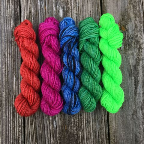 Technicolor,Paradise,Mini,Coquette,Skein,Pack,mini skeins, minis, yarn minis, sample yarns , sample pack , sample skeins, Hogwarts, Hogwarts Christmas, Harry Potter