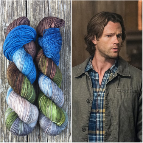 Sam,Winchester,-,Supernatural,Inspired,Yarn,supernatural yarn, supernatural, dean, sam, crowley, castiel, knits, winchester