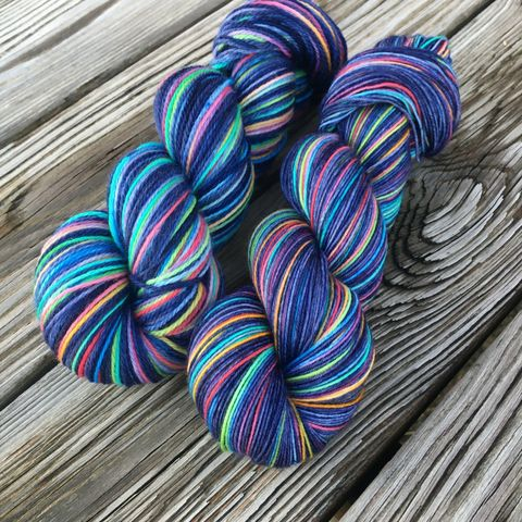 Dark,Side,of,the,Moon,yarn, hand dyed, wool, rainbow yarn, miyazaki yarn, totoro yarn, knits, neon