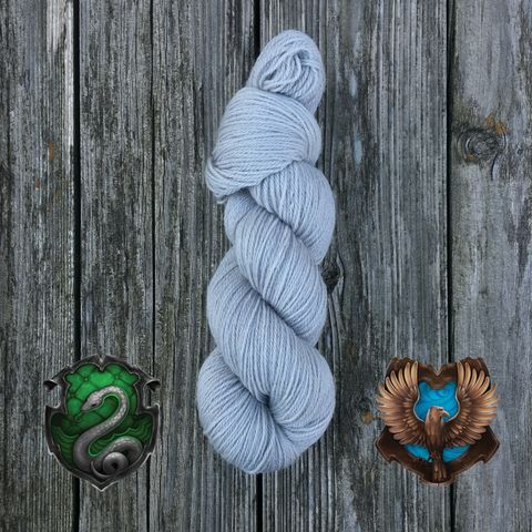 Quidditch,Hogwarts,Silver-,Slytherin,or,Ravenclaw,yarn, kettle dyed, indiedyed yarn, solid yarn, tonal yarn
