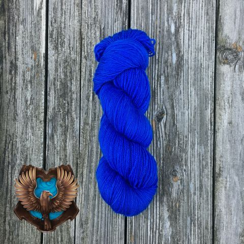 Quidditch,Ravenclaw,Blue,yarn, kettle dyed, indiedyed yarn, solid yarn, tonal yarn