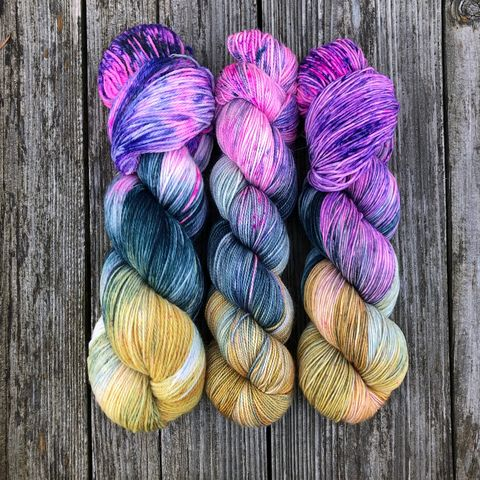 Magical,Me,~,Harry,Potter,Inspired,Yarn,yarn, Hand dyed, kettle dyed, Harry Potter, potion yarn, harry potter yarn, hogwarts yarn, luna lovegood, radish earrings , magic yarn