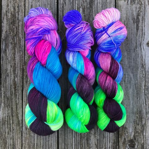 Nymphadora,~,Harry,Potter,Inspired,Yarn,yarn, Hand dyed, kettle dyed, Harry Potter, potion yarn, harry potter yarn, hogwarts yarn, luna lovegood, radish earrings , magic yarn