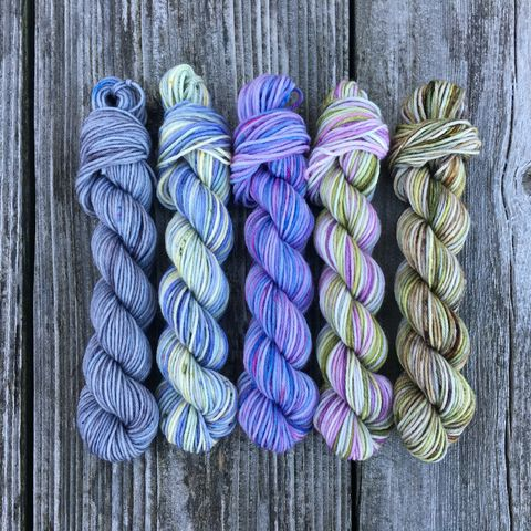 Lovely,Lallybroch,Squishy,Sock,Mini,Skein,Pack,mini skeins, minis, yarn minis, sample yarns , sample pack , sample skeins, yarn, outlander, jamie yarn, fraser yarn, jamie